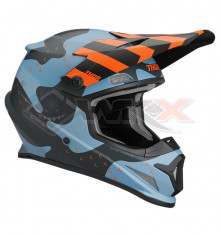 Piece Casque THOR Sector taille L CAMO BLEU MAT de Pit Bike et Dirt Bike