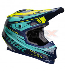Piece Casque THOR Sector taille L BLEU / JAUNE de Pit Bike et Dirt Bike