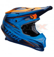 Piece Casque THOR Sector taille M BLEU / ORANGE de Pit Bike et Dirt Bike
