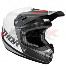 Piece Casque THOR Sector taille M GRIS / BLANC de Pit Bike et Dirt Bike