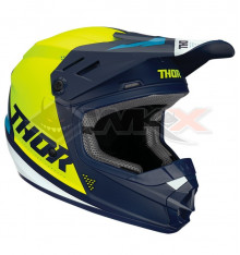 Piece Casque THOR Sector taille L JAUNE / BLEU de Pit Bike et Dirt Bike