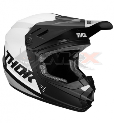 Piece Casque THOR Sector taille S NOIR / BLANC de Pit Bike et Dirt Bike