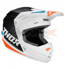 Piece Casque THOR Sector taille S BLANC / NOIR / ORANGE / BLEU de Pit Bike et Dirt Bike