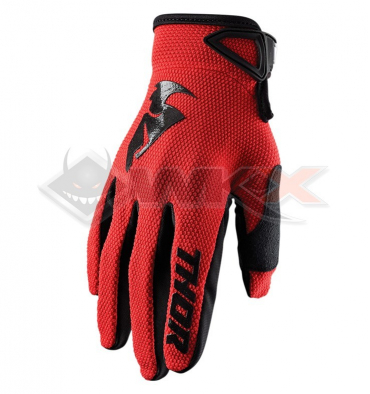Piece Gants THOR Sector taille 2XL ROUGE de Pit Bike et Dirt Bike