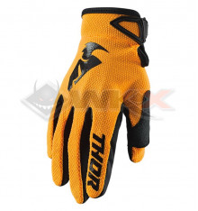 Piece Gants enfant THOR Sector taille Y2XS ORANGE de Pit Bike et Dirt Bike