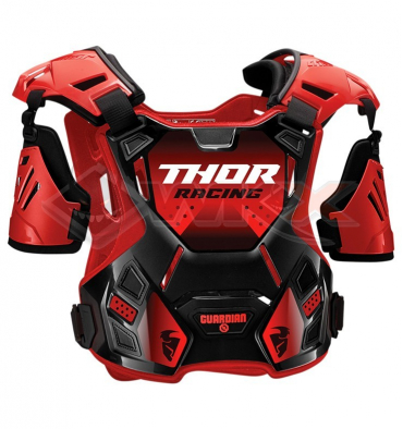 Piece Plastron enfant THOR Guardian taille S/M ROUGE de Pit Bike et Dirt Bike