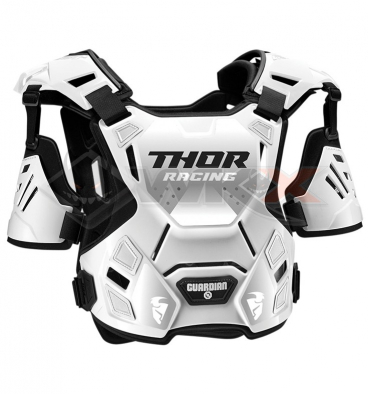 Piece Plastron THOR Guardian taille M/L BLANC de Pit Bike et Dirt Bike
