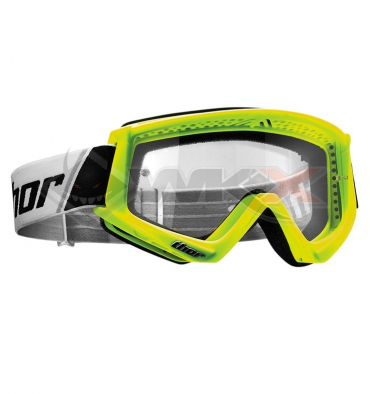 Piece Masque THOR Combat JAUNE FLUO de Pit Bike et Dirt Bike