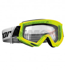 Piece Masque enfant THOR Combat JAUNE FLUO de Pit Bike et Dirt Bike