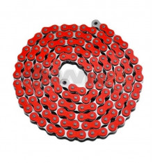 Piece Chaine de transmission TECNIUM 420 ROUGE 140 maillons de Pit Bike et Dirt Bike
