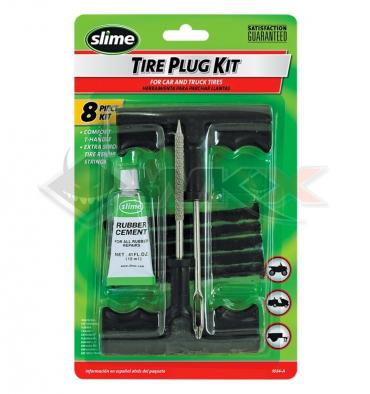 Piece Kit réparation pneu tubeless SLIME de Pit Bike et Dirt Bike