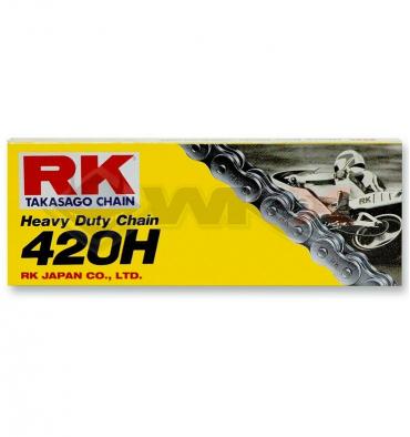 Piece Chaine de transmission 420 TAKASAGO RK 120 maillons de Pit Bike et Dirt Bike