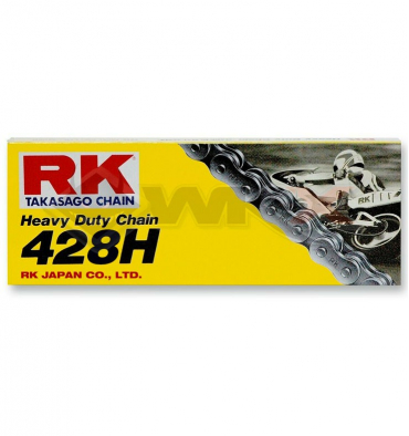 Piece Chaine de transmission 428 TAKASAGO RK 120 maillons de Pit Bike et Dirt Bike