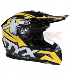 Piece Casque STYX RACING taille L JAUNE de Pit Bike et Dirt Bike