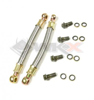 Piece Durite de radiateur aluminium gros volume 180 mm / la paire de Pit Bike et Dirt Bike
