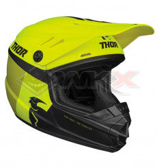 Piece Casque enfant THOR Sector Racer taille YM JAUNE de Pit Bike et Dirt Bike
