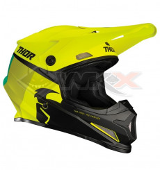 Piece Casque THOR Sector Racer taille L JAUNE de Pit Bike et Dirt Bike