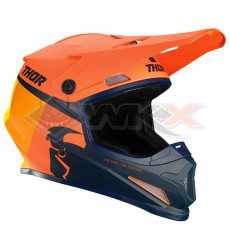 Piece Casque THOR Sector Racer taille L ORANGE de Pit Bike et Dirt Bike