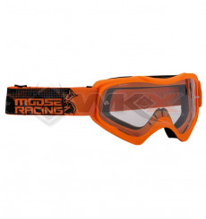 Piece Masque enfant MOOSE Qualifier Slash ORANGE de Pit Bike et Dirt Bike