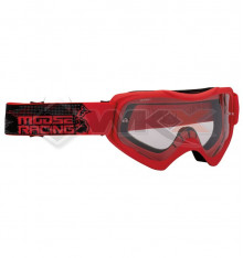 Piece Masque enfant MOOSE Qualifier Slash ROUGE de Pit Bike et Dirt Bike