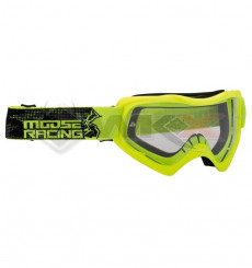 Piece Masque MOOSE Qualifier Slash JAUNE de Pit Bike et Dirt Bike