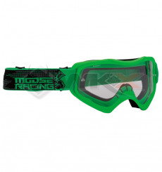 Piece Masque MOOSE Qualifier Slash VERT de Pit Bike et Dirt Bike