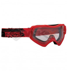 Piece Masque MOOSE Qualifier Slash ROUGE de Pit Bike et Dirt Bike