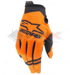 Piece Gants enfant ALPINESTARS Radar taille YXS ORANGE de Pit Bike et Dirt Bike