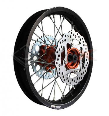 Piece Jante arrière aluminium YCF BIGY 1.85x14' ORANGE de Pit Bike et Dirt Bike