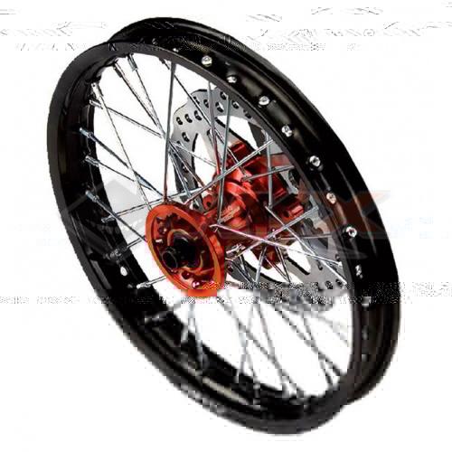 Piece Jante avant aluminium YCF 1.4x14' ORANGE de Pit Bike et Dirt Bike