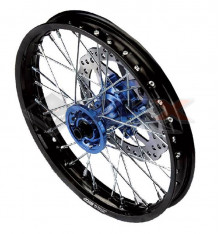 Piece Jante avant aluminium YCF 1.4x14' BLEU de Pit Bike et Dirt Bike