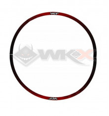 Piece Sticker de roue YCF SM 12' - 0,3 mm ROUGE de Pit Bike et Dirt Bike