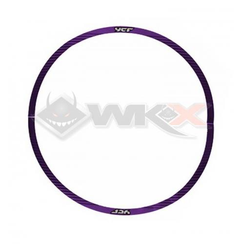 Piece Sticker de roue YCF SM 12' - 0,3 mm VIOLET de Pit Bike et Dirt Bike