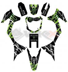 Piece Kit décoration MONSTER MXF de Pit Bike et Dirt Bike