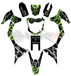 Piece Kit décoration MONSTER MXF de Pit Bike et Dirt Bike