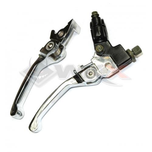 Piece Levier de frein + levier d'embrayage retournable de Pit Bike et Dirt Bike
