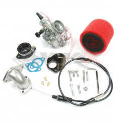 Piece Kit carburateur MIKUNI VM 26 TB + pipe souple + filtre + câble + joint de Pit Bike et Dirt Bike