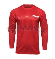 Piece Maillot THOR SECTOR MINIMAL RED taille S de Pit Bike et Dirt Bike