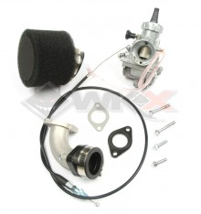 Piece Kit carburateur MIKUNI VM 24 Taiwan + pipe souple + câble + joint + filtre de Pit Bike et Dirt Bike