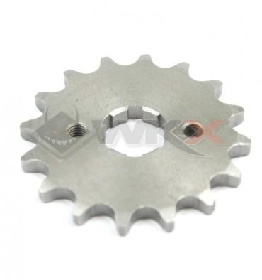 Piece Pignon de sortie de boite axe 17 mm 15 dents 420 de Pit Bike et Dirt Bike