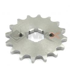 Piece Pignon de sortie de boite  axe 17 mm 15 dents 428 de Pit Bike et Dirt Bike