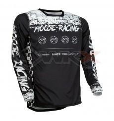 Piece Maillot MOOSE RACING M1 NOIR/BLANC taille S de Pit Bike et Dirt Bike