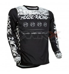 Piece Maillot MOOSE RACING M1 NOIR/BLANC taille M de Pit Bike et Dirt Bike