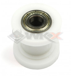 Piece Roulette de chaine 8mm BLANC de Pit Bike et Dirt Bike
