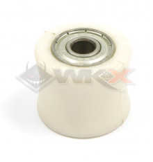 Piece Roulette de chaine 8mm RACING BLANC de Pit Bike et Dirt Bike