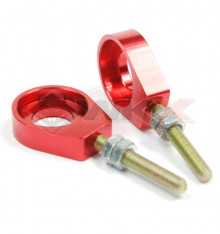 Piece Tendeur de chaine sucette 12mm ROUGE de Pit Bike et Dirt Bike