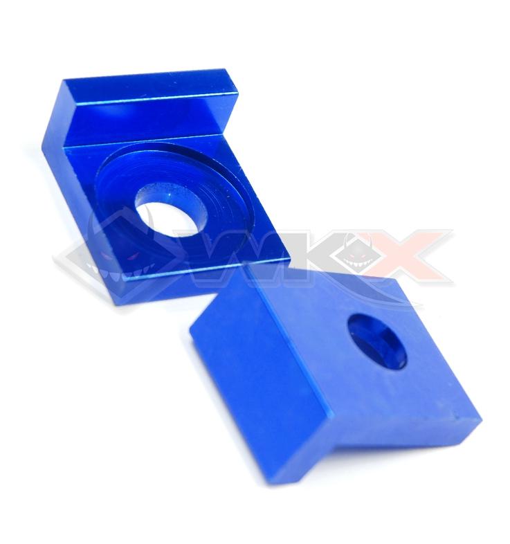 Tendeur de chaine aluminium BLEU axe 12 mm/ la paire