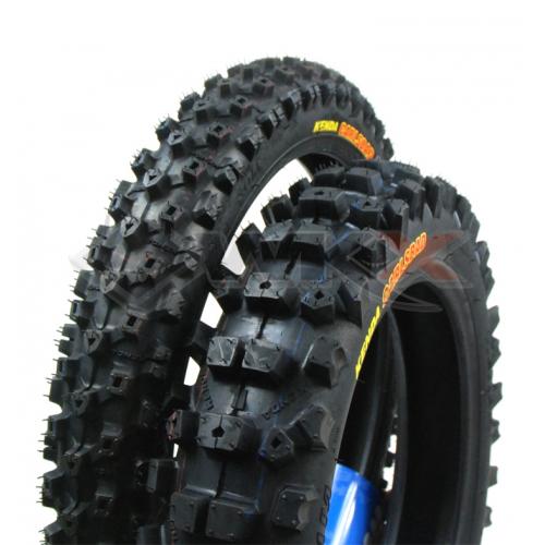 Piece Paire pneus KENDA CARLSBAD 12'/14' de Pit Bike et Dirt Bike