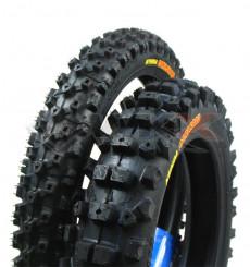 Piece Paire pneus KENDA CARLSBAD 12 / 14 de Pit Bike et Dirt Bike