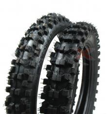 Piece Paire pneus GUANGLI 12 / 14 + chambres de Pit Bike et Dirt Bike